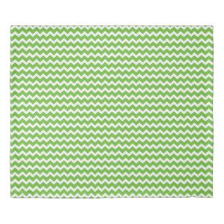 Lime Green Chevron Stripes Duvet Cover