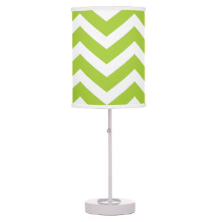 Lime Green Chevron Table Lamp