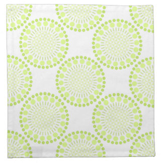 Lime Green Circles Cloth Napkins