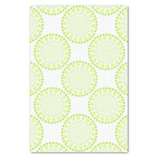 Lime green Circles Tissue Paper