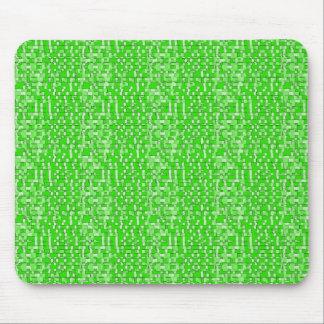 Lime Green Circuits Mousepad