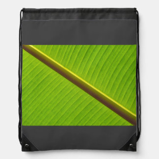 Lime Green Close-Up Of Banana Leaf Backpack