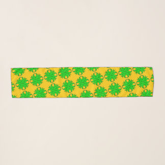 Lime Green Clover Ribbon by Kenneth Yoncich Scarf