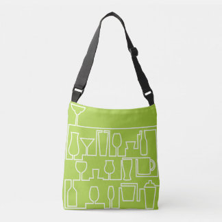 Lime green cocktail party crossbody bag