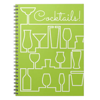 Lime green cocktail party notebooks