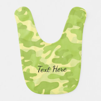 Lime Green Color Camouflage Pattern Bib