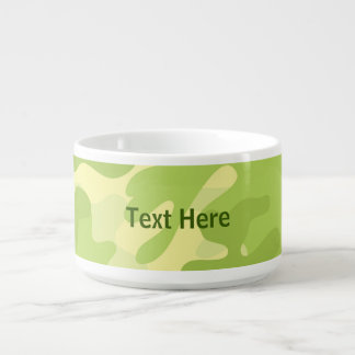 Lime Green Color Camouflage Pattern Bowl