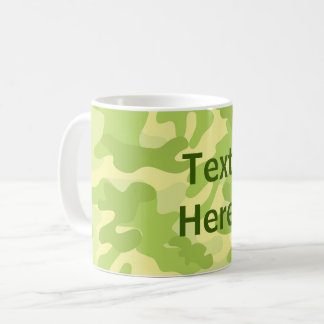 Lime Green Color Camouflage Pattern Coffee Mug
