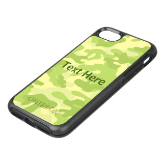 Lime Green Color Camouflage Pattern OtterBox Symmetry iPhone 8/7 Case