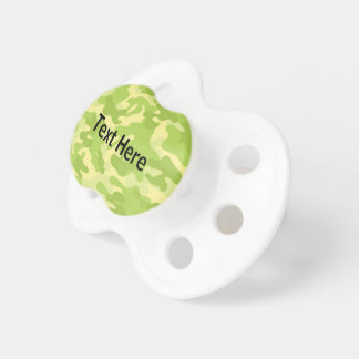 Lime Green Color Camouflage Pattern Pacifier