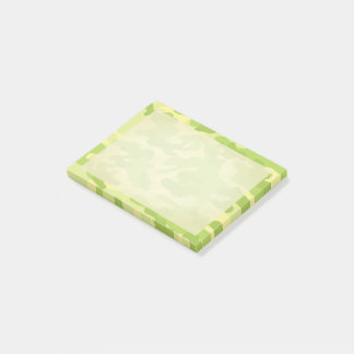 Lime Green Color Camouflage Pattern Post-it Notes