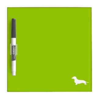 Lime Green Dachshund Dry Erase Board