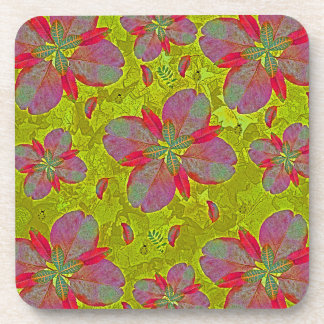 Lime Green Deco Beverage Coaster