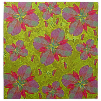 Lime Green Deco Printed Napkins