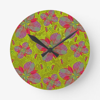 Lime Green Deco Wall Clock