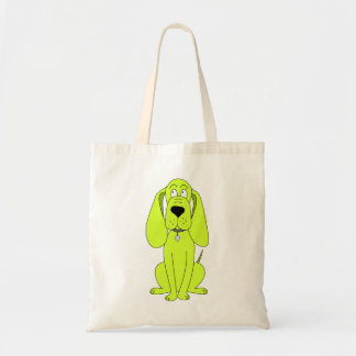 Lime Green Dog. Cute Hound Cartoon. Tote Bag