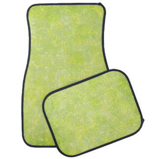 Lime Green Fairy Dust Bokeh Auto Mat