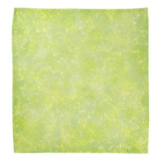 Lime Green Fairy Dust Bokeh Bandana