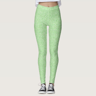Lime Green Faux Glitter Leggings