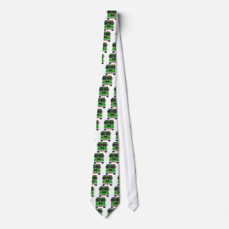 Lime Green Fire Truck Tie