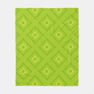 Lime Green Fleece Throw