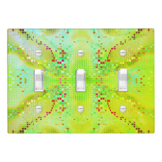 Lime Green Freesia Light Switch Cover