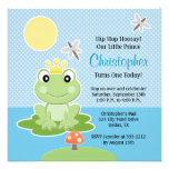 Lime Green Frog Prince Birthday Invitations