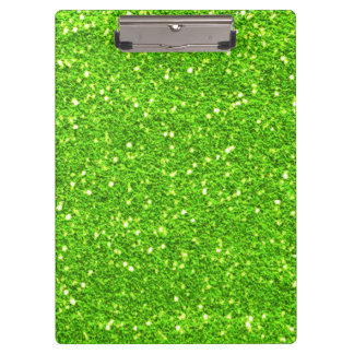 Lime Green Glitter Clipboard