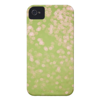 Lime Green Glitter Soft Focus iPhone 4 Cover