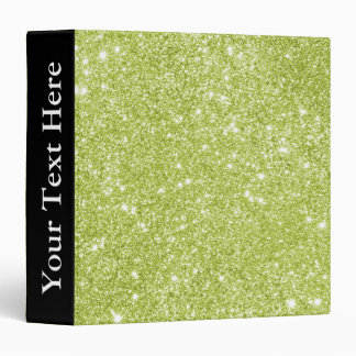 Lime Green Glitter Sparkles Binder