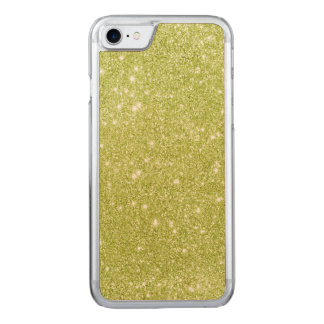 Lime Green Glitter Sparkles Carved iPhone 8/7 Case