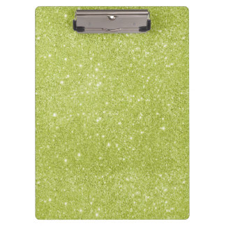 Lime Green Glitter Sparkles Clipboard
