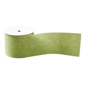 Lime Green Glitter Sparkles Grosgrain Ribbon