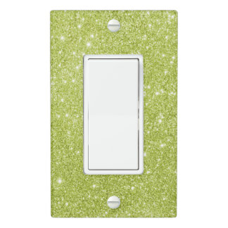 Lime Green Glitter Sparkles Light Switch Cover
