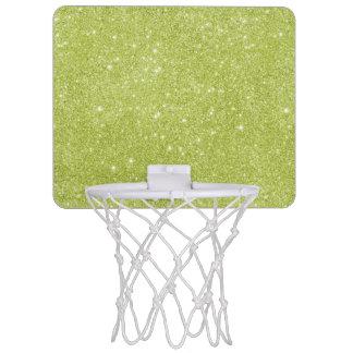Lime Green Glitter Sparkles Mini Basketball Hoop
