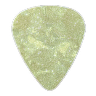 Lime Green Glitter Sparkles Pearl Celluloid Guitar Pick