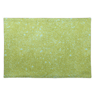 Lime Green Glitter Sparkles Placemat