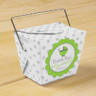 Lime Green & Grey Polka Dots-Baby Shower Favor Box