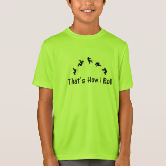 Lime Green Gymnatics Parkour Tumbling  T-shirt