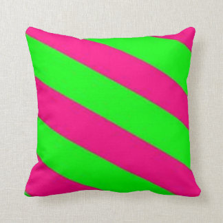 lime green-hot pink throw pillow