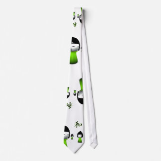 Lime Green Kanji Collection Tie