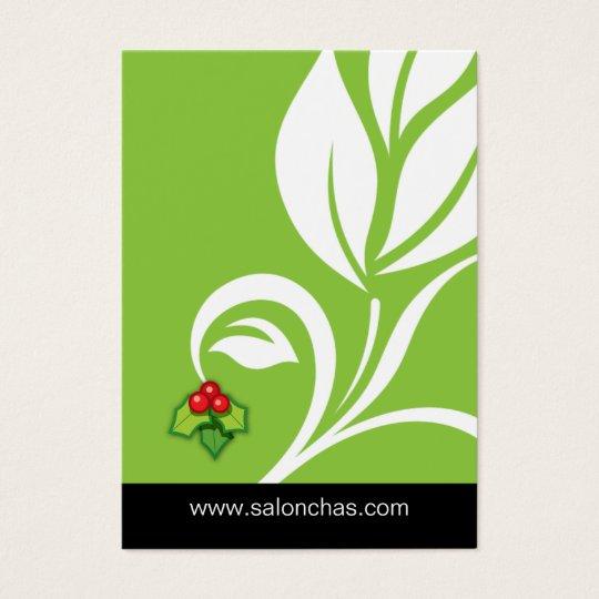 Lime green Leaf Salon Spa Gift Card Xmas