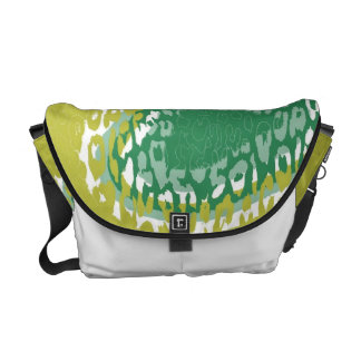 Lime Green Leopard Print Skin and Modern design Commuter Bags