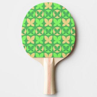 Lime Green Light Yellow Butterflies Butterfly Patt Ping Pong Paddle