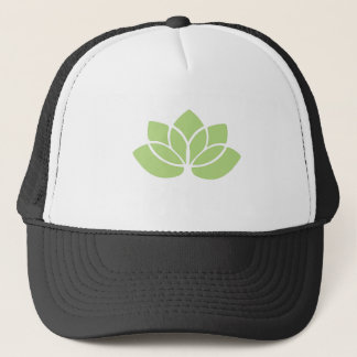 Lime Green Lotus Flower Trucker Hat