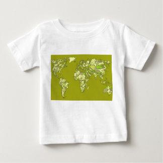 Lime green maps tee shirts