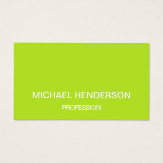 Lime green minimalist trendy business card