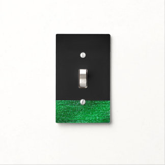 Lime Green Modern Glam Sequins Chic Trendy Cool Light Switch Cover