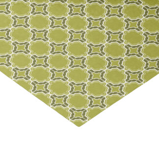 Lime Green Moroccan Lattice Pattern Tissue Paper