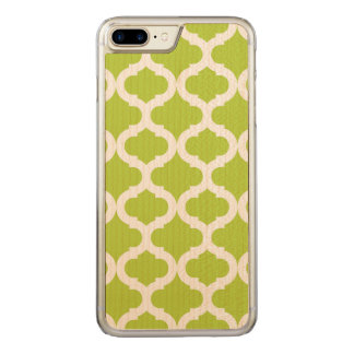 Lime Green Moroccan Pattern Carved iPhone 7 Plus Case